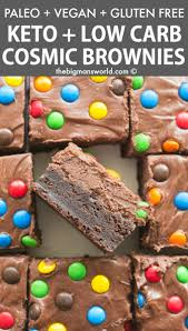 paleo vegan homemade cosmic brownies