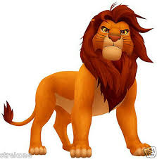 Walt Disney S Simba The Lion From The Lion King Window Cling Decal Sticker New Ebay