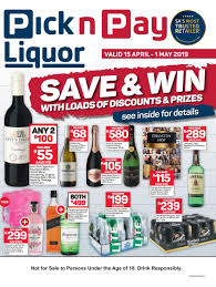 pick n pay liquor save and win 15