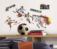 Men S Soccer Champion Peel And Stick Wall Decals Walldecals Com
