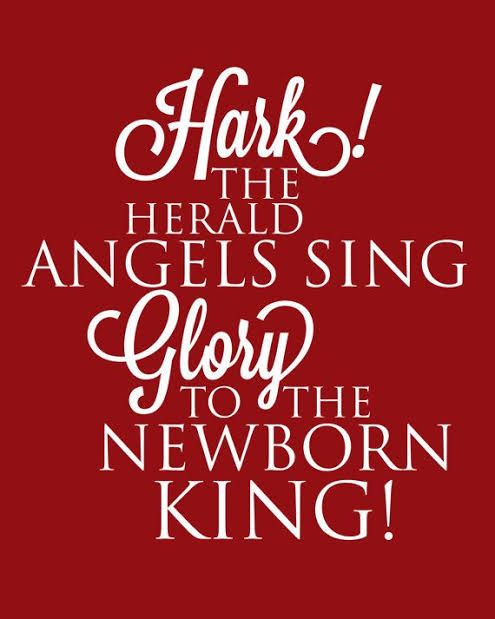 Image result for Hark the Herald angels sing image and quote""