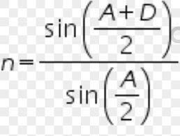 equation of the refractive index