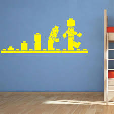 Lego Evolution Decal Wall Sticker Lego Wall Art Vinyl Stencil Kids Room Cartoon Decorative Stickers Brand Quote Diy Home Decor Diy Home Decor Wall Stickerstickers Lego Aliexpress