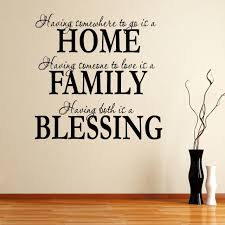 Home Family Blessings Quote Wall Sticker Decal World Of Wall Stickers