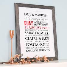 ruby wedding anniversary art