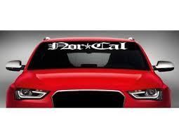 40 Nor Cal California Car Decal Sticker Windshield Banner Bay Area Jdm Colors Ebay