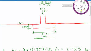 Calculating Bearing Pressure For Foundation With Moment Load Shallow Foundation Design Example 4 Youtube