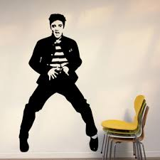 Elvis Presley Wall Decals Vinyl Sticker Wall Art Mural 7 Styles Canada 2020 From Flylife Cad 6 72 Dhgate Canada