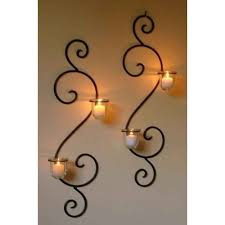 glass rustic decorative candle wall