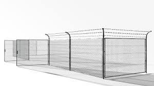 3d Model Of Rabitz Fence 40000 3d Model Architecture Exterior Model