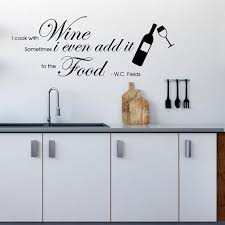 I Cook With Wine Wall Decal Etsy
