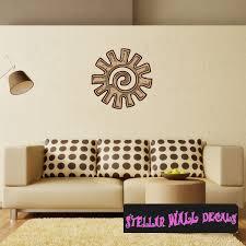 Aztec Wall Decal Wall Fabric Repositionable Decal Vinyl Car Sticker Usc003