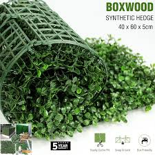 Artificial Boxwood Hedge Fake Vertical Garden Green Wall Ivy Mat Fence Simply Homeware