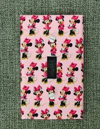 Pink Minnie Mouse Light Switch And Outlet Covers Nursery Etsy