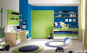 boys room also blue and green