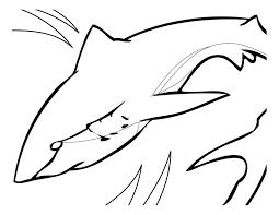 Tranh cho bé tô màu con cá mập 17 - download