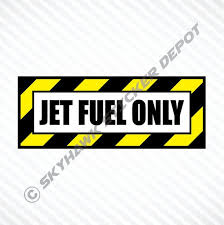 Jet Fuel Only Funny Sticker Vinyl Decal Diesel Truck Car Decal Gas Cap Decal Motorcycle Gas Tank Decal Fits Dodge Ford Diesel Trucks Diesel Trucks Chevy Diesel Trucks Fuel Truck
