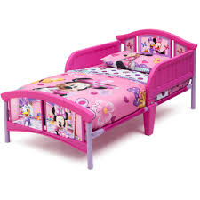 Delta Children Disney Minnie Mouse Plastic Toddler Bed Pink Walmart Com Walmart Com