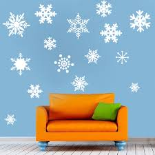 Removable Snow Wall And Window Decals Christmas Decal Stickers Snowflake Wall Decals Christmas Murals Primedecals