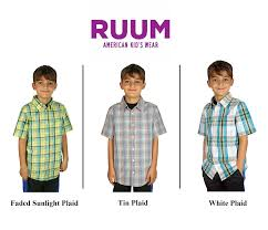ruum boys on down collared shirt
