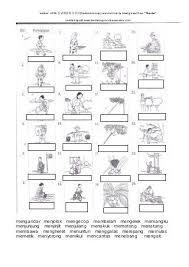 latihan kata kerja bergambar malay language n language