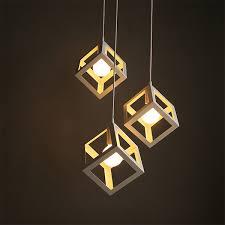 iron square sahpe pendant lamps