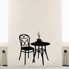 Shop Tea Coffee Restaurant Cafe Table Wall Art Sticker Decal Overstock 11180011