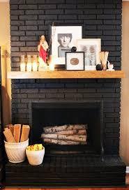 painting brick fireplace black small