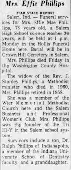 Obituary for Effie Mae Phillips (Aged 76) - Newspapers.com