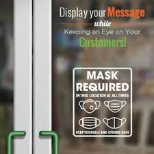Face Mask Required Decal Storefront And Office Window Decal Door Sign Ebay