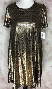 lularoe carly m reduced elegant gold