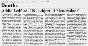 Addie King Ledford Death 1987 - Newspapers.com