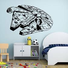 Star Wars Wall Stickers Millennium Falcon Fight Home Decor Diy Creative Removable Bedroom Living Room Stickers Wallpaper Mural Bedroom Stickers Bedroom Stickers For Walls From Rhdsykc 7 82 Dhgate Com