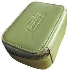 leather zip around travel pill case