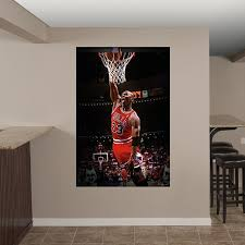 Michael Jordan Mural Wall Decal Shop Fathead For Chicago Bulls Decor Ultimate Man Cave Mural Wall Murals