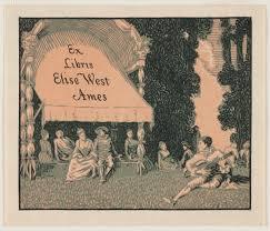 Ex Libris Elise West Ames (Bookplate) | CMOA Collection