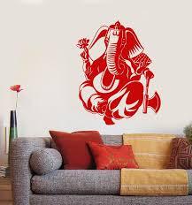 Vinyl Wall Decal Indian God Ganesha Elephant Hinduism Stickers 3096ig Wallstickers4you