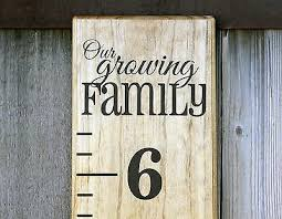 Diy Vinyl Growth Chart Ruler Decal Kit Large Style Our Growing Family Ebay