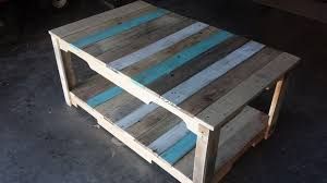 pallet coffee table with stained