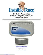 Invisible Fence 800 Series Owner S Manual Pdf Download Manualslib