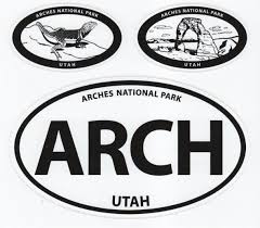Arches Vinyl Decal Set Canyonlands Natural History Association