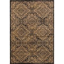 schneck belgium black gold area rug