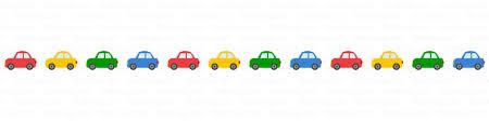 小さな可愛い車のライン線の無料イラスト素材|イラストイメージ