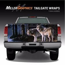 Wolf Scene Wolves Truck Tailgate Vinyl Graphic Decal Wrap Ebay