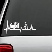 2020 Camper Travel Trailer Kayak Heartbeat Decal Sticker Tent Hiker Camper Art Rear Window Car Sticker From Xymy797 3 52 Dhgate Com
