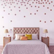 Leoter Metallic Rose Gold Wallpops 2 0inch X 200 Decals Stickers Removable Wall Decal Dot Decor Gold Wall Decals Decor Polka Dot Decor