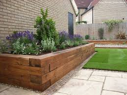 planter boxes wooden garden