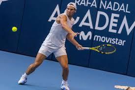 Rafael Nadal hits practice court at his ...