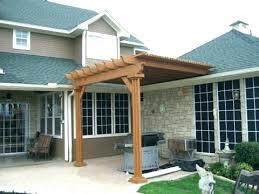 pergola attached to house roof how
