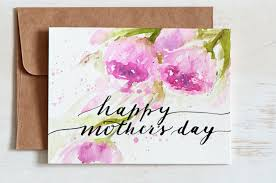Mothers day card unique, Hand Painted Watercolor cards, Hand lettered  Watercolor Card, Mothers day card floral,J… | Paint cards, Mothers day cards,  Watercolor cards